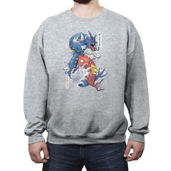 Koi Fish Evolution - Crew Neck Sweatshirt - Crew Neck Sweatshirt - RIPT Apparel