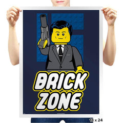 Brick Zone - Prints - Posters - RIPT Apparel