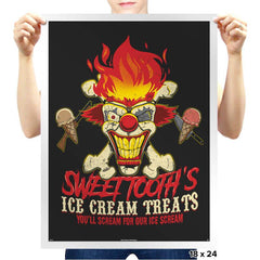 Sweet Tooth's Ice Cream Treats - Prints - Posters - RIPT Apparel