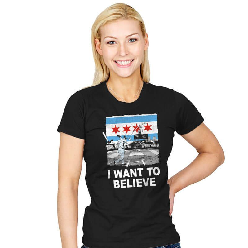 Chi Want To Believe Exclusive - Womens - T-Shirts - RIPT Apparel