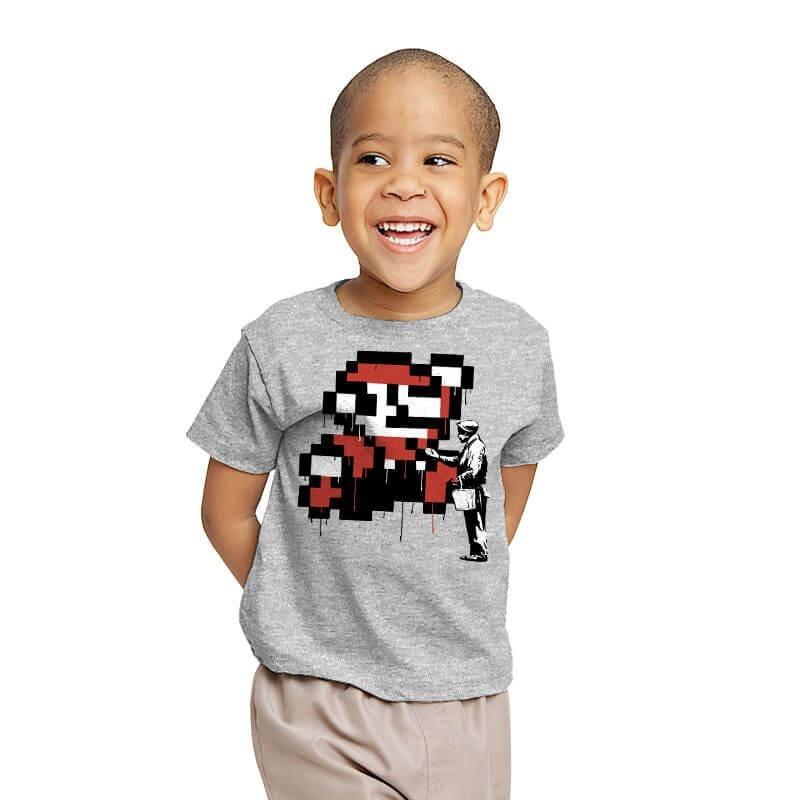 Graffiti Mario - Youth - T-Shirts - RIPT Apparel