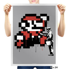 Graffiti Mario - Prints - Posters - RIPT Apparel
