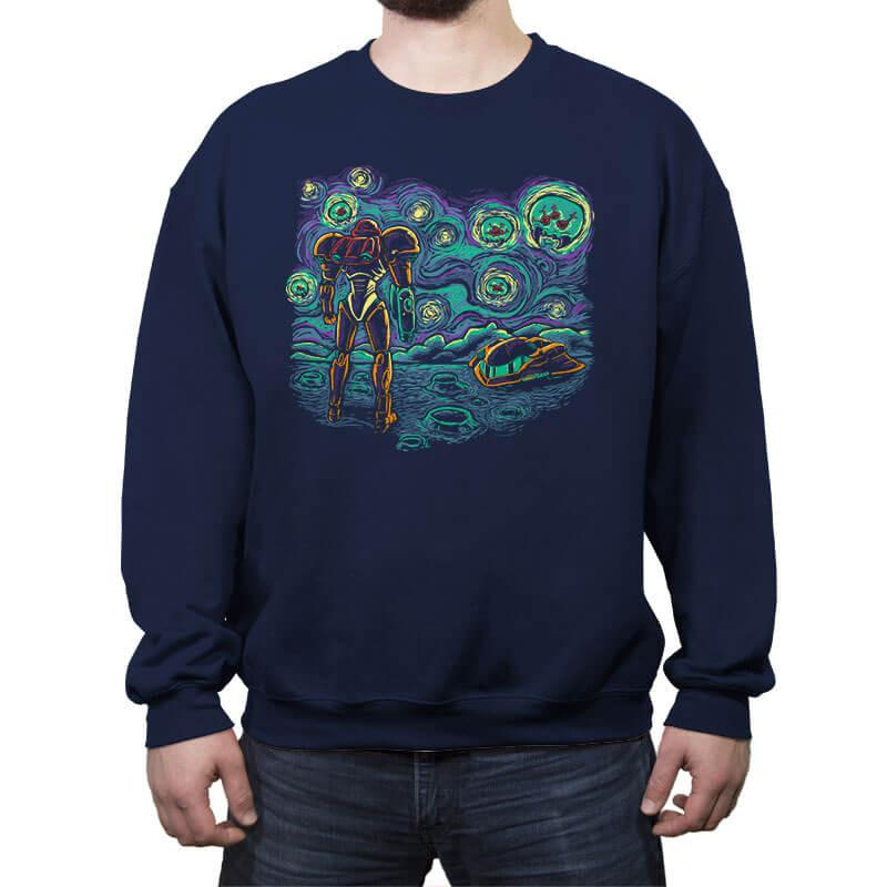 Starry Parasite - Crew Neck Sweatshirt - Crew Neck Sweatshirt - RIPT Apparel