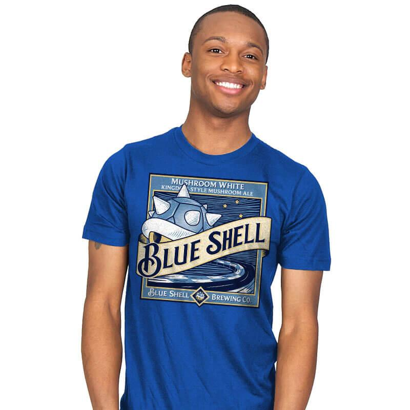Blue Shell Beer - Mens - T-Shirts - RIPT Apparel