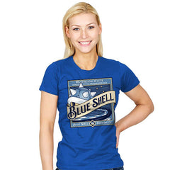 Blue Shell Beer - Womens - T-Shirts - RIPT Apparel