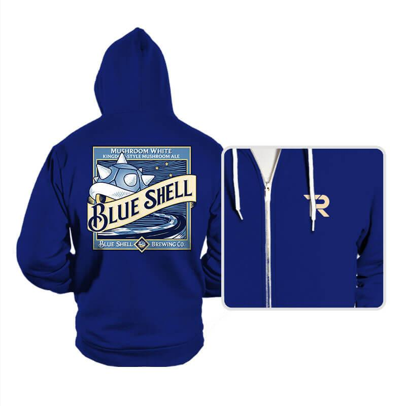 Blue Shell Beer - Hoodies - Hoodies - RIPT Apparel
