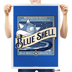 Blue Shell Beer - Prints - Posters - RIPT Apparel
