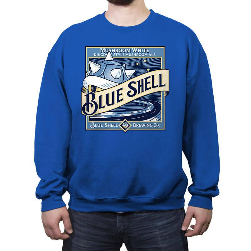 Blue Shell Beer - Crew Neck Sweatshirt - Crew Neck Sweatshirt - RIPT Apparel