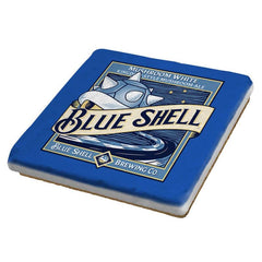 Blue Shell Beer - Coasters - Coasters - RIPT Apparel