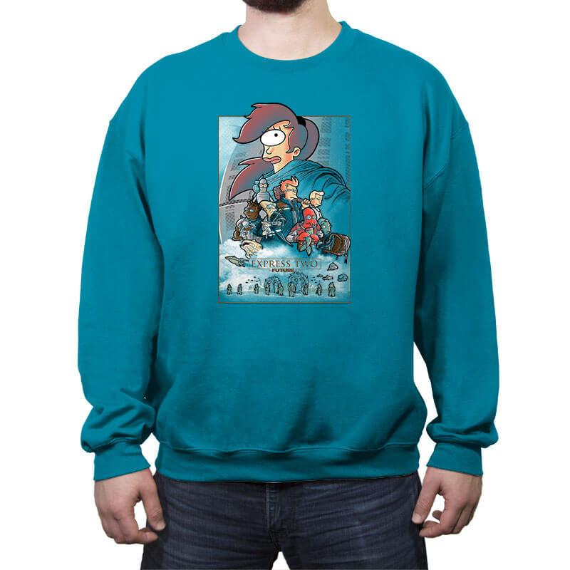 Express two - Crew Neck Sweatshirt - Crew Neck Sweatshirt - RIPT Apparel