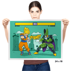 Dragon Fighter - Prints - Posters - RIPT Apparel