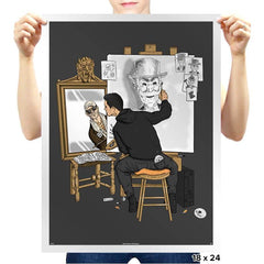 Self-portrait of Hacker - Prints - Posters - RIPT Apparel