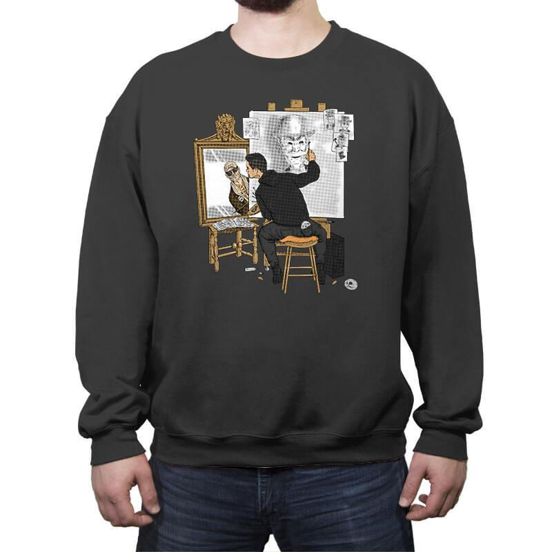 Self-portrait of Hacker - Crew Neck Sweatshirt - Crew Neck Sweatshirt - RIPT Apparel
