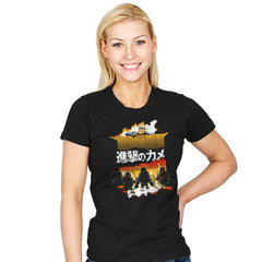 Attack on Turtle - Womens - T-Shirts - RIPT Apparel