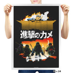 Attack on Turtle - Prints - Posters - RIPT Apparel
