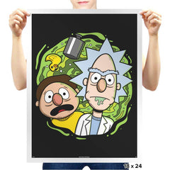 Brick and Mernie - Prints - Posters - RIPT Apparel