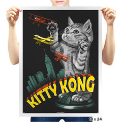 Kitty Kong - Prints - Posters - RIPT Apparel