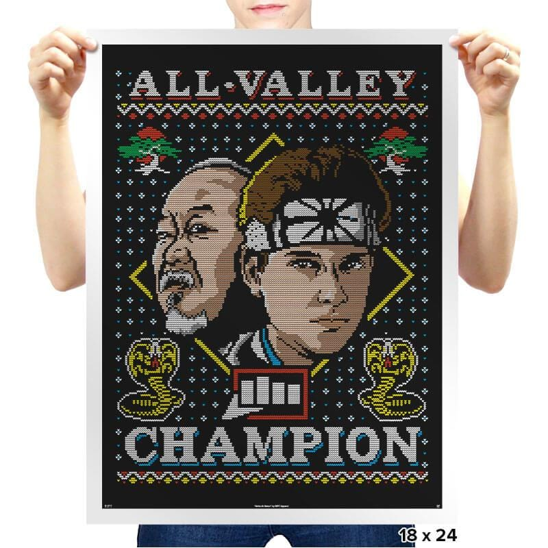 All Valley Champion COD Holiday Sweater - Prints - Posters - RIPT Apparel
