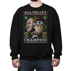 All Valley Champion COD Holiday Sweater - Crew Neck Sweatshirt - Crew Neck Sweatshirt - RIPT Apparel