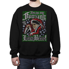 Horrible Santa COD Holiday Sweater - Crew Neck Sweatshirt - Crew Neck Sweatshirt - RIPT Apparel