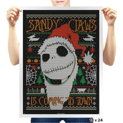 Sandy Claws COD Holiday Sweater - Prints - Posters - RIPT Apparel