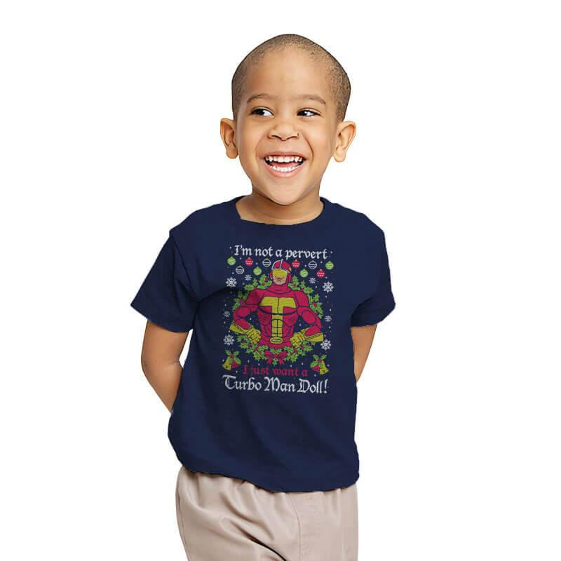 Turbo Man COD Holiday Sweater - Youth - T-Shirts - RIPT Apparel