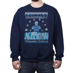 White Walker Xmas COD Holiday Sweater - Crew Neck Sweatshirt - Crew Neck Sweatshirt - RIPT Apparel