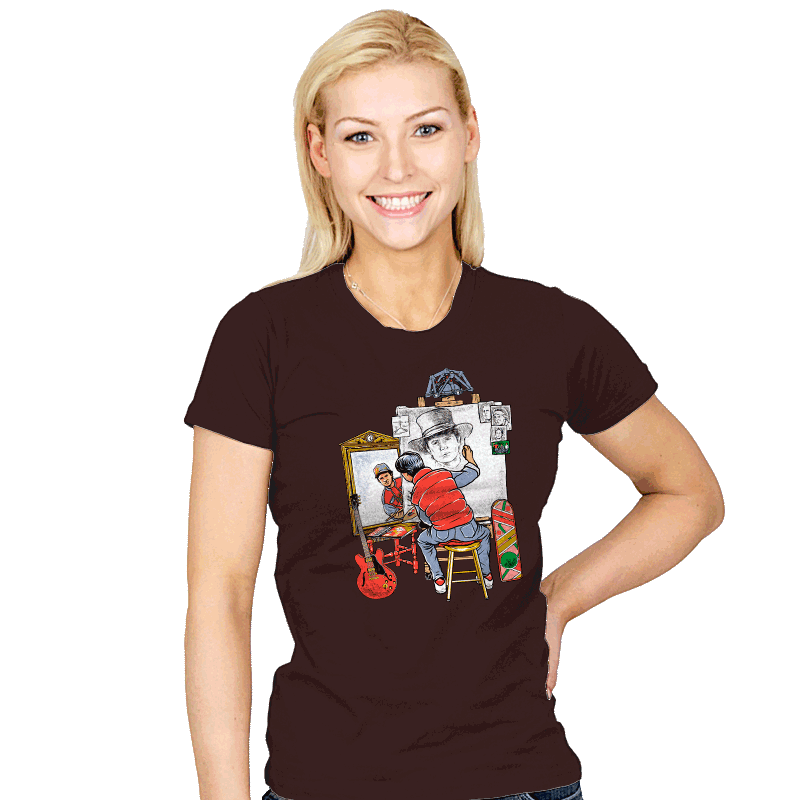 Marty Future Self Portrait - Womens - T-Shirts - RIPT Apparel