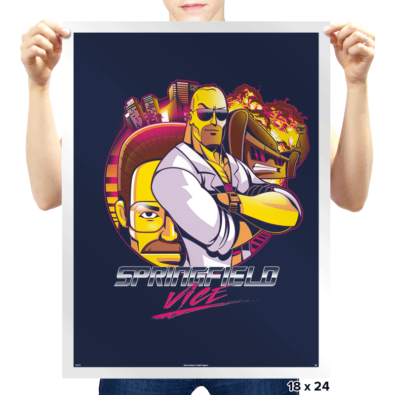Springfield Vice - Prints - Posters - RIPT Apparel