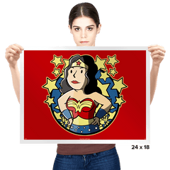 Wonder Girl - Prints - Posters - RIPT Apparel