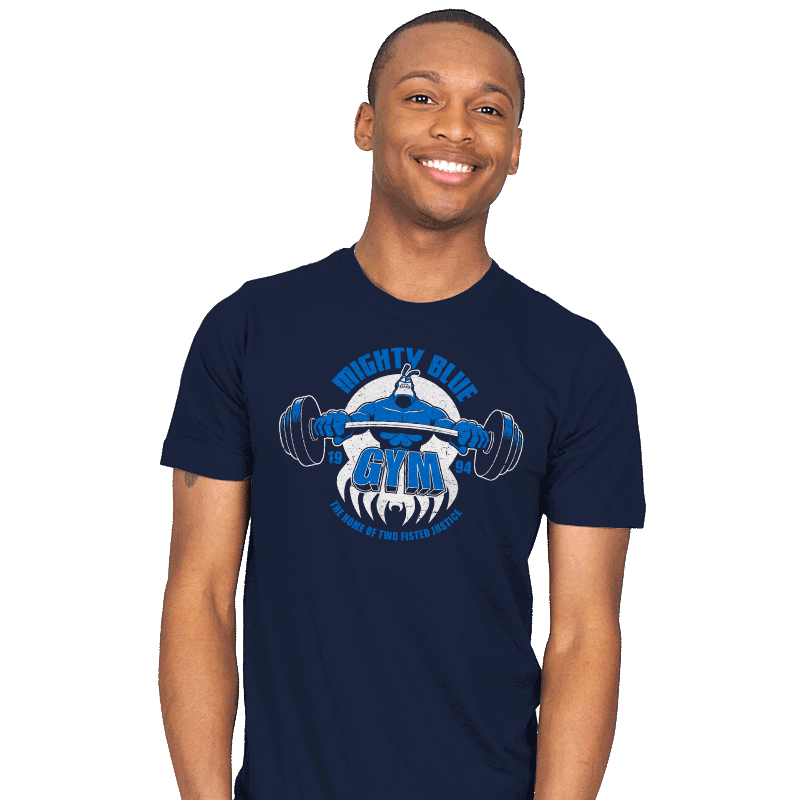 Mighty Blue Gym - Mens - T-Shirts - RIPT Apparel