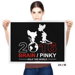 Brain / Pink 2016 - Prints - Posters - RIPT Apparel