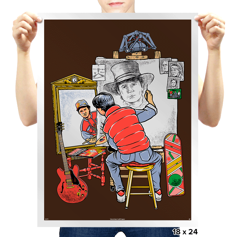 Marty Future Self Portrait - Prints - Posters - RIPT Apparel
