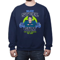 Blue Steel Gym - Crew Neck - Crew Neck - RIPT Apparel