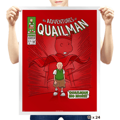 Quailman No More - Prints - Posters - RIPT Apparel
