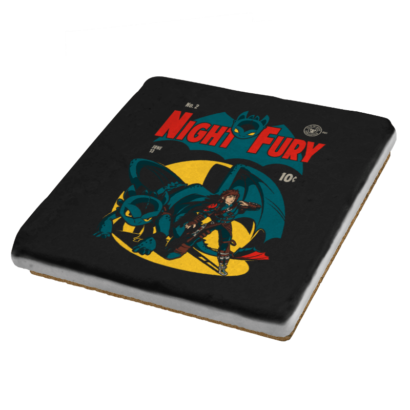 Dark Knight Fury Exclusive - Coasters - Coasters - RIPT Apparel