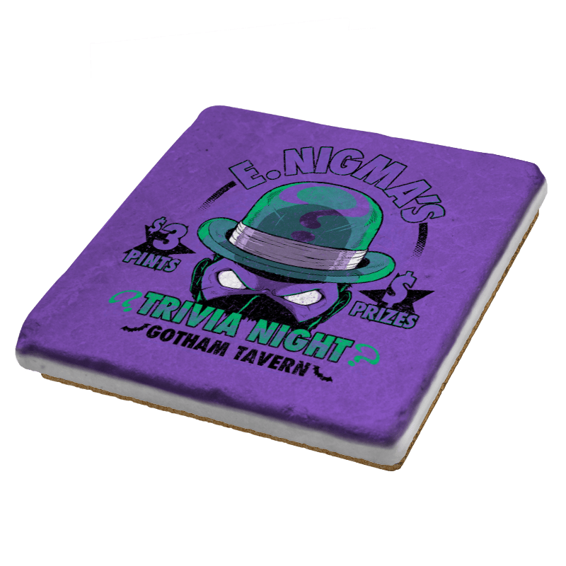 E. Nigma's Trivia Night Exclusive - Coasters - Coasters - RIPT Apparel
