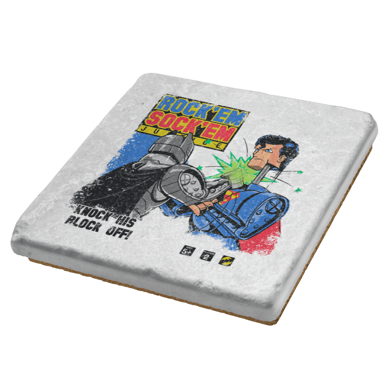 Rock 'em Sock 'em Super Friends Exclusive - Coasters - Coasters - RIPT Apparel