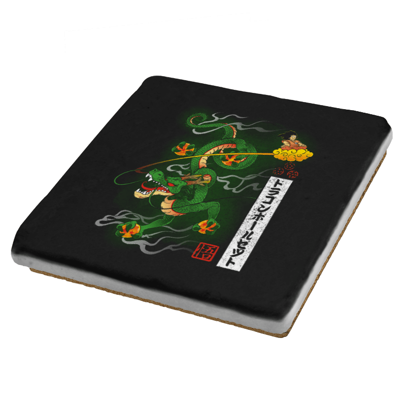 Woodblock Dragon Exclusive - Coasters - Coasters - RIPT Apparel
