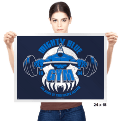 Mighty Blue Gym - Prints - Posters - RIPT Apparel
