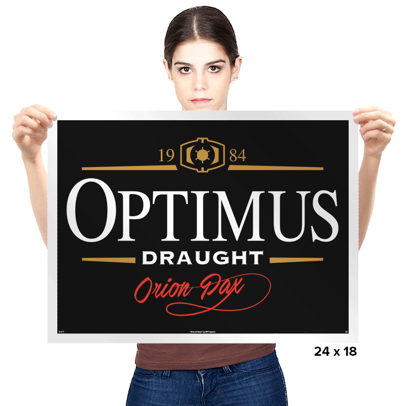 Optimus Draught - Prints - Posters - RIPT Apparel