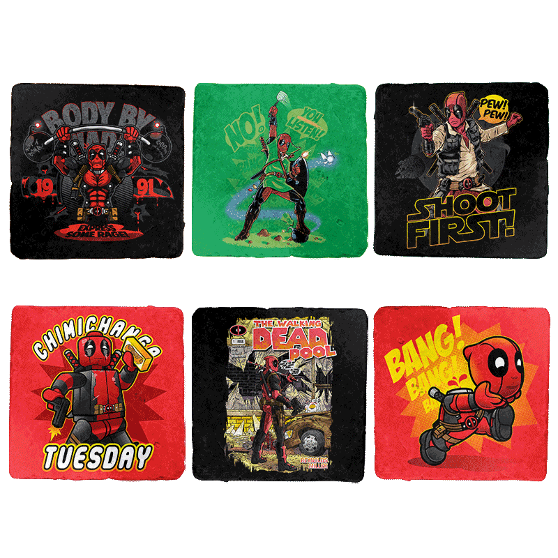 Crazy Wade Exclusive 6-Coaster Set - Coasters - Coasters - RIPT Apparel