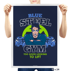 Blue Steel Gym - Prints - Posters - RIPT Apparel