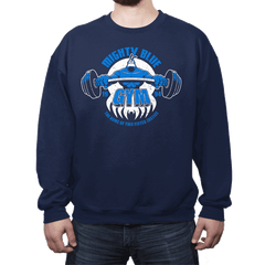 Mighty Blue Gym - Crew Neck - Crew Neck - RIPT Apparel