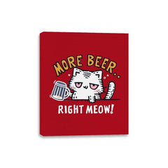 Beer Right Meow - Canvas Wraps - Canvas Wraps - RIPT Apparel