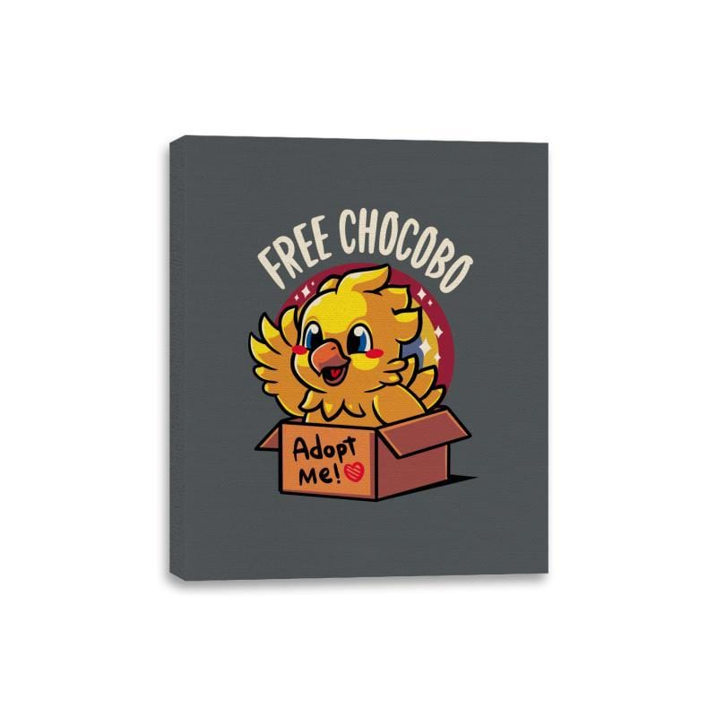 Free Chocobo - Canvas Wraps - Canvas Wraps - RIPT Apparel