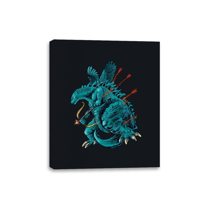 Godzilla Cupid - Canvas Wraps - Canvas Wraps - RIPT Apparel
