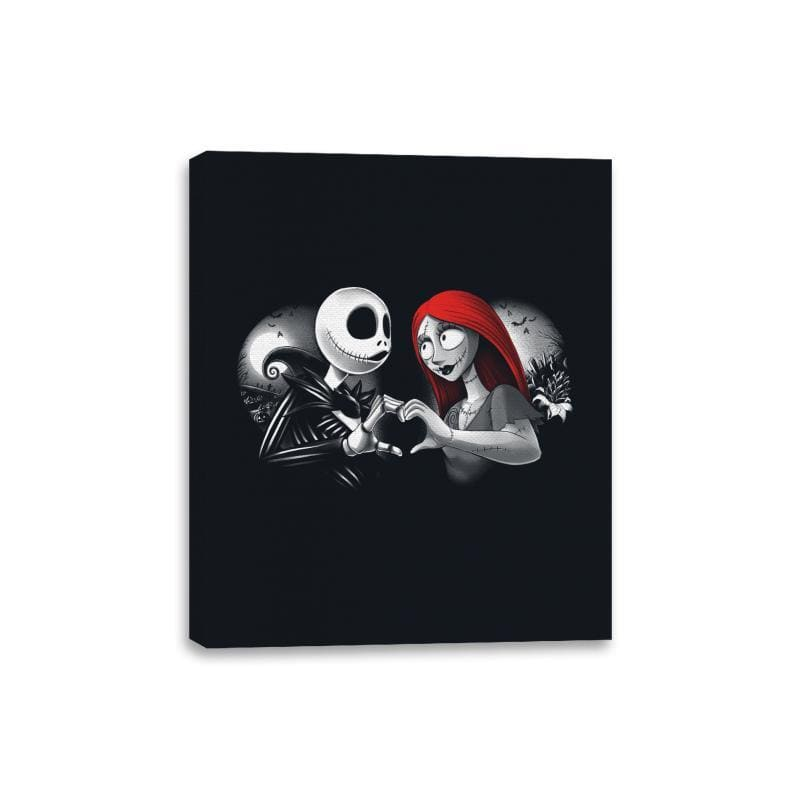 Her Skeleton, His Doll - Canvas Wraps - Canvas Wraps - RIPT Apparel
