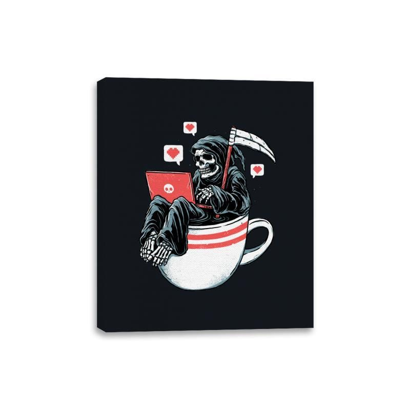Love Death and Coffee - Canvas Wraps - Canvas Wraps - RIPT Apparel