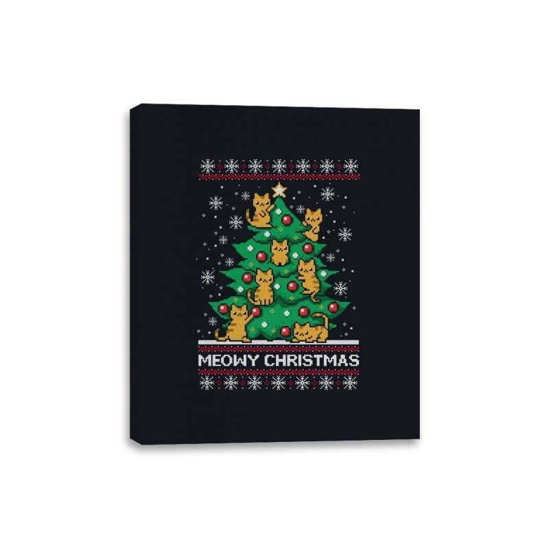 Meowy christmas - Ugly holiday - Canvas Wraps - Canvas Wraps - RIPT Apparel